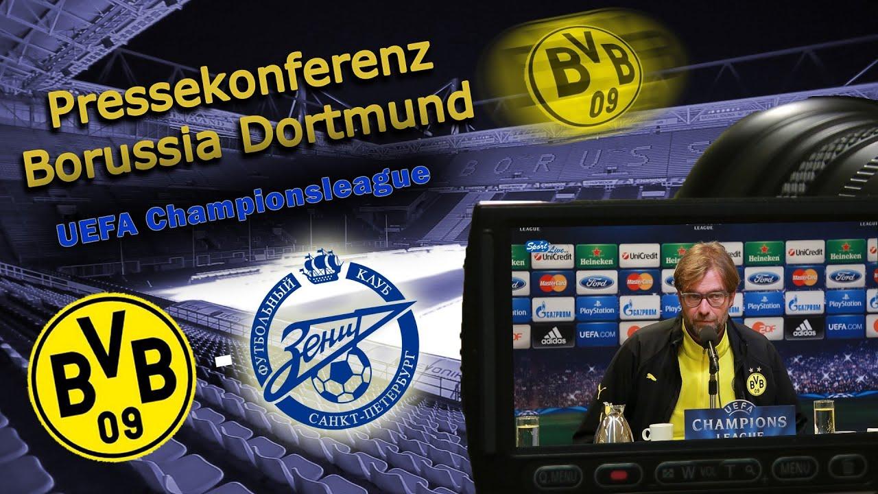 BVB Pressekonferenz nach dem Champions League Achtelfinale Borussia Dortmund gegen Zenit St Petersburg