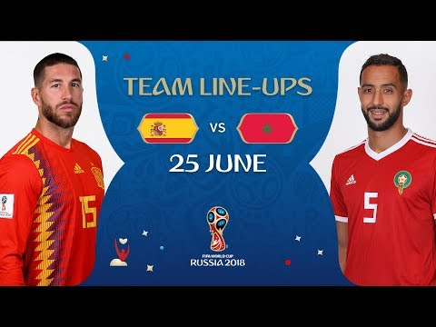 LINEUPS – SPAIN V MOROCCO - MATCH 36 @ 2018 FIFA World Cup™
