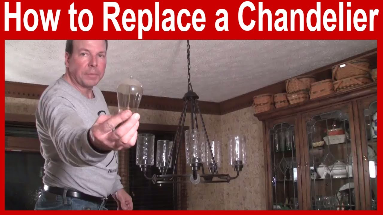 How To Replace A Chandelier You, How To Replace A Light Fixture With Chandelier