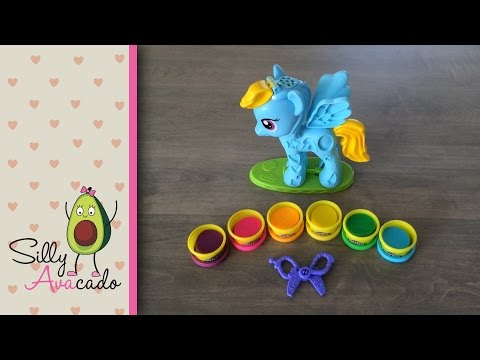 Easter Hello Kitty Basket W/ My Little Pony Rainbow Dash Style Salon & Play-Doh Stampers