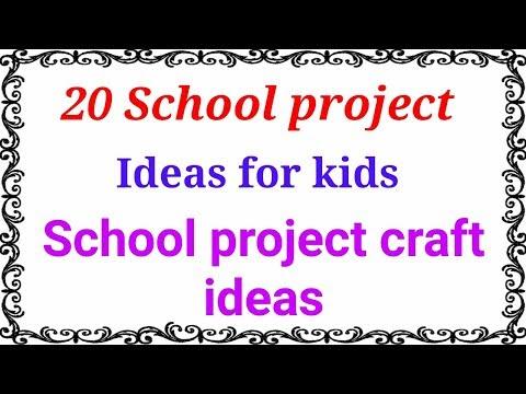 20 School project ideas|Project ideas for school students|School project craft ideas.