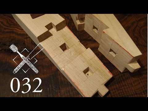 "Joint Venture Ep. 32: Mortised rabbeted oblique doweled scarf joint ""Dai mochi tsugi"""