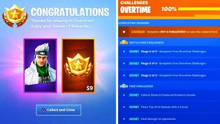 I completed ALL OVERTIME Challenges then THIS happened! (Fortnite Season 9 Rewards)