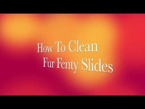 How To Clean White Fur Fenty Slides | DIY