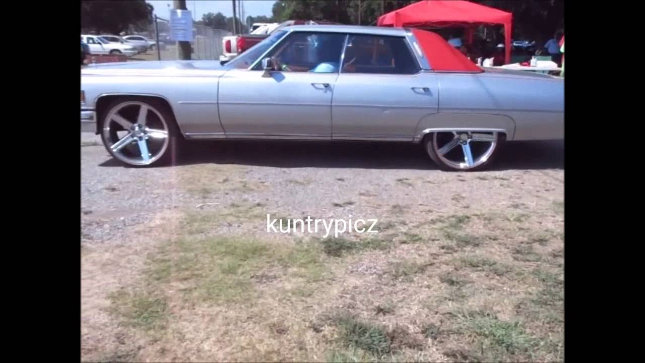 Old School Cadillac On Irocs Tucked Chargers Challenger On Custom