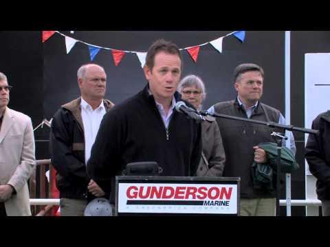 Gunderson Marine SDS10 Barge Launch Short Version