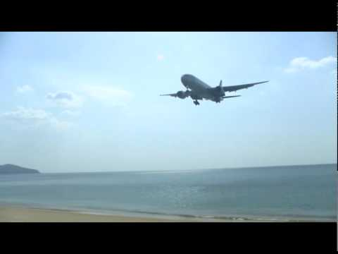 Airplane landing on Phuket-Airport