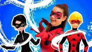 Леди Баг и Супер Кот поменялись телами! Видео с куклами - Игрушки и игры для девочек