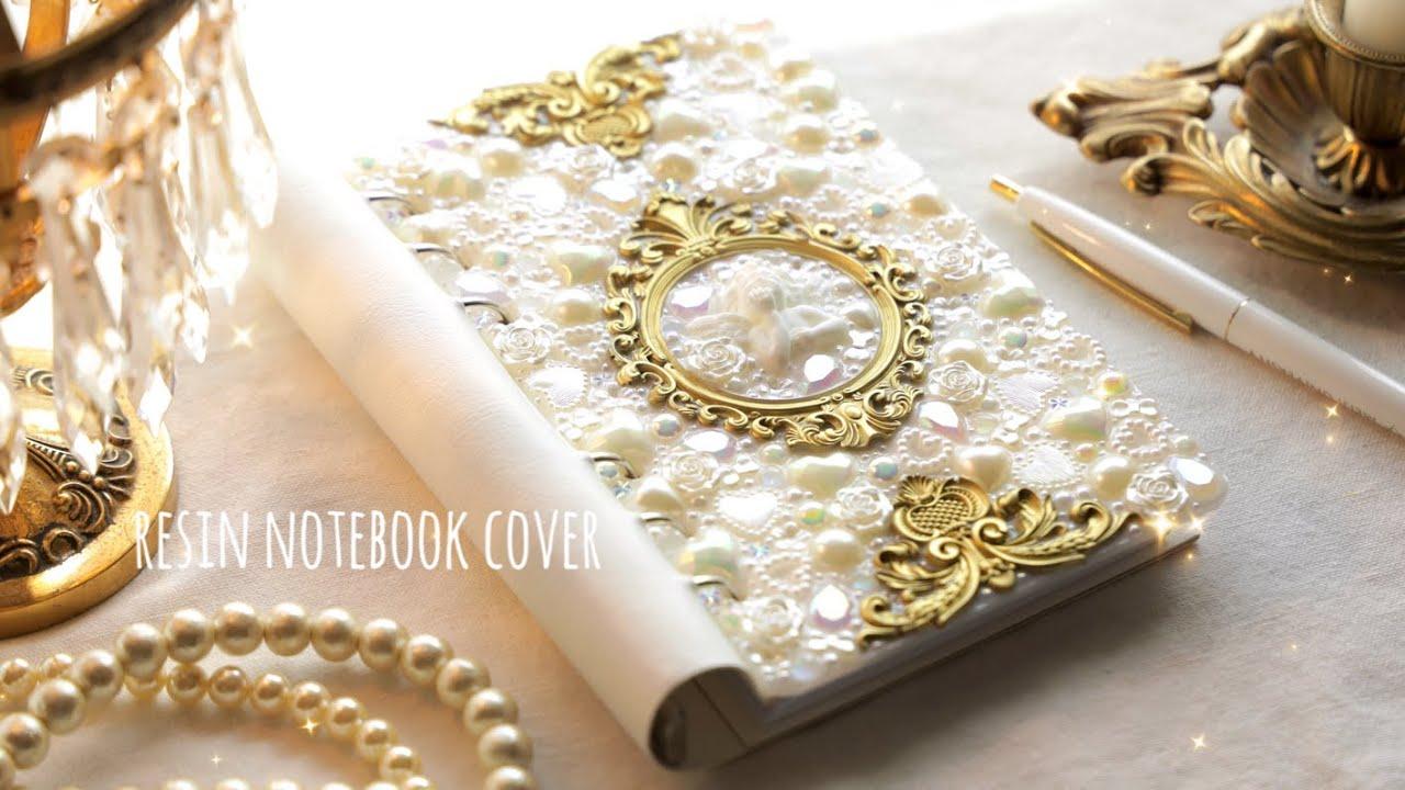 【レジンで作る手帳の表紙】ロココ調フレームと天使|アンティーク風 Resin Notebook Cover |Tutorial