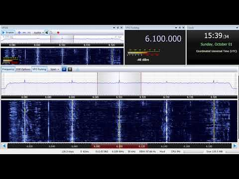 01 10 2017 Radio Afghanistan External Service in English to SoAs 1538 on 6100 Kabul