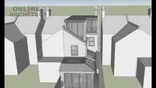3d House Extension And Loft Conversion Plans London Uk