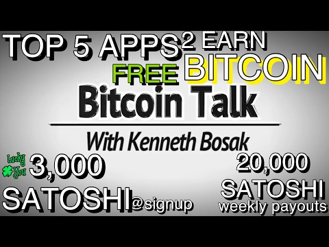 Top 5 Apps to EARN FREE Bitcoin 2017