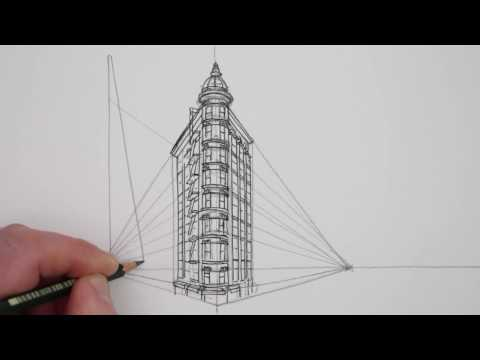 How to Draw in 2-Point Perspective: Buildings: San Francisco