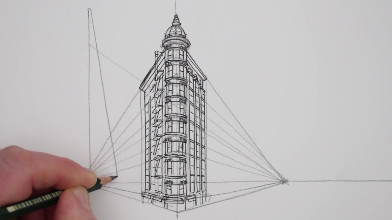 Perspective Drawings Of Buildings how to draw in 2-point perspective: buildings: san francisco - youtube