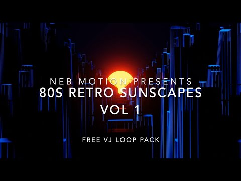 FREE VJ LOOP PACK - 80s Retro Sunsets - Vaporwave Outrun Visuals