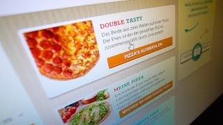 Wir bestellen uns Pizza.