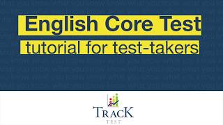 ENGLISH CORE TEST tutorial for individual test-takers