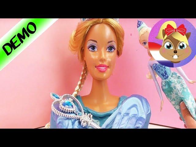 Barbie Als Ijskoningin Elsa Van Frozen Met Jurk Van Intelligente