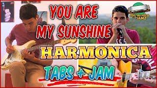 You Are My Sunshine HARMONICA TABS + Jam Track