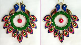 Beautiful Peacock Wall Hanging | Peacock Wall Decor Idea | Best Out Of Waste