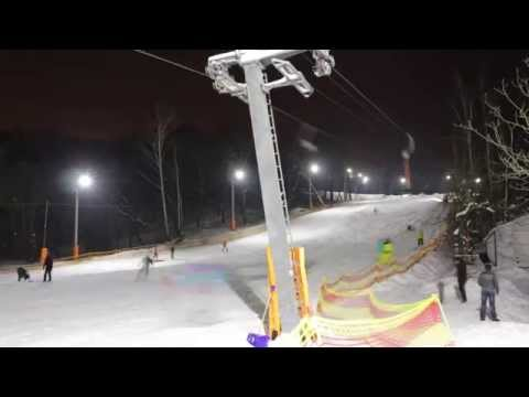 Лыжная горка Голосеево Time Lapse