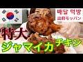 【モッパン】韓国のBBQチキンのペダル(出前)でジャマイカチキン食べたらめっちゃおいしかった件【飯テロ】