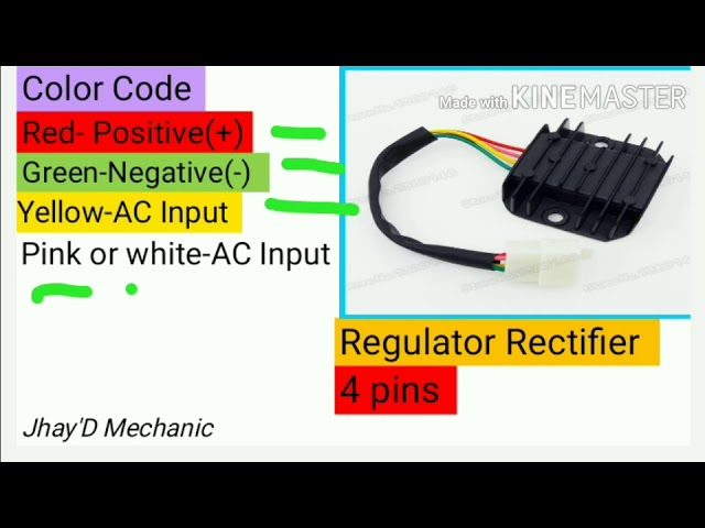 4 wire / 5 wire regulator rectifier wiring diagram and Explain Regulator  (TAGALOG) - YouTube | Gy6 Voltage Regulator Wiring Diagram |  | YouTube