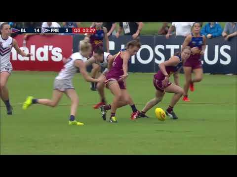 AFLW RND4 2018 Brisbane vs Fremantle | Goals, behinds, highlights & team song