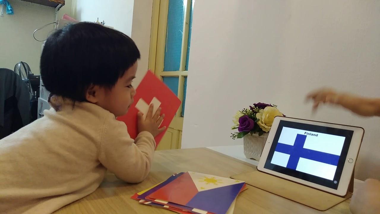 Học 50 cờ các nước trên thế giới cùng bé Dừa (2tuổi10 tháng)