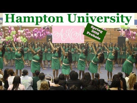 Hampton University Alpha Kappa Alpha Probate | Spring 2018