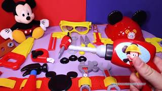 Unboxing the Mickey Mouse Clubhouse  Mousekadoer Tool Kit Toys