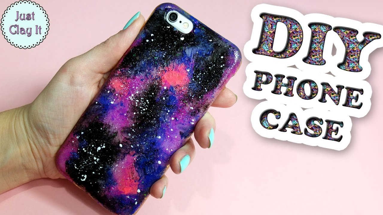 Diy Galaxy Phone Case Easy Phone Case Idea Youtube