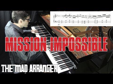 Mission Impossible - Advanced Jazz Piano Arrangement with Sheet Music by Jacob Koller