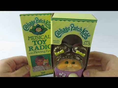 1983 Cabbage Patch Kids Musical Toy Radio Vintage New in Box