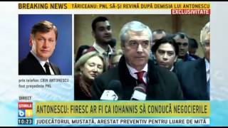 Antonescu: Tariceanu este incult politic