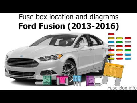Fuse box location and diagrams Ford Fusion (2013-2016) - YouTube