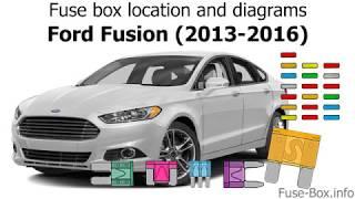 [SCHEMATICS_4FR]  Fuse box location and diagrams: Ford Fusion (2013-2016) - YouTube | 2013 Ford Fusion Fuse Diagram |  | YouTube