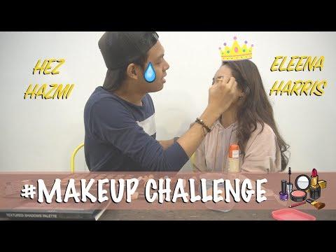 MAKE UP Challenge !!! Hez Hazmi & Eleena Harris