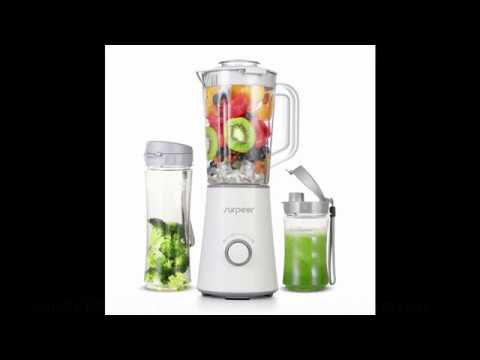 Surpeer Smoothie 350 W Ice Blender et centrifugeuse automatique Fruit Blender