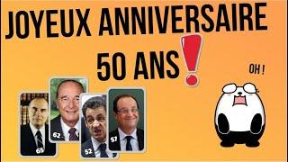 Joyeux Anniversaire 50 Ans Humour Pour Homme Youtube