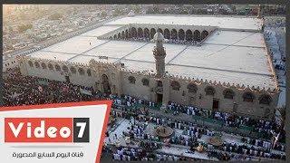 آلاف المصلين يؤدون صلاة العيد بساحة جامع عمرو بن العاص