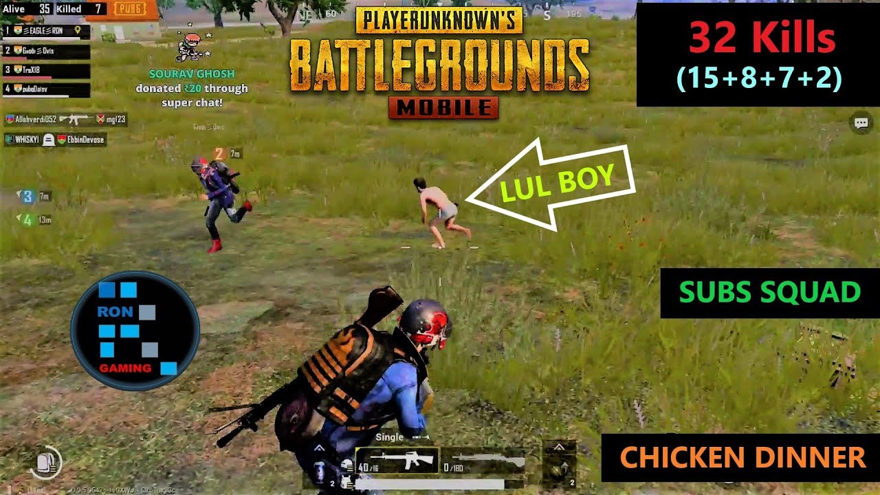 Hindi Pubg Mobile 32 Kills Subscribers Squad Amazing Chicken - hindi pubg mobile 32 kills subscribers squad amazing chicken dinner