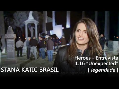 "Stana Katic @ Heroes: 1.16 ""Unexpected"" - entrevista (legendada)"