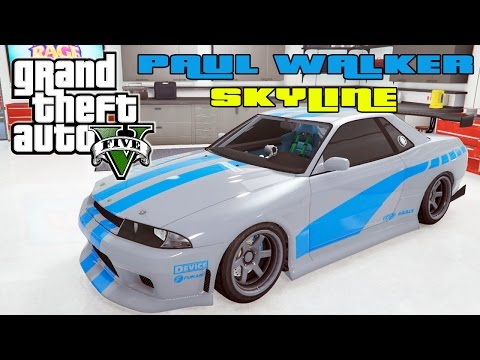 GTA V Online : NISSAN GTR ÉPICO DO PAUL WALKER FAST AND FURIOUS