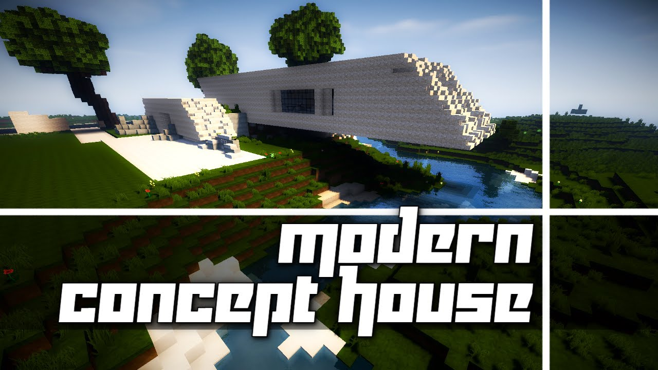 Minecraft Modern Concept House Tour YouTube