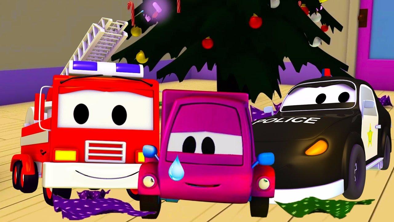 Đội xe tuần tra :Xe cứu hỏa cùng với xe cảnh sát và Suzy và những món quà bị đánh cắp ở thành phố xe