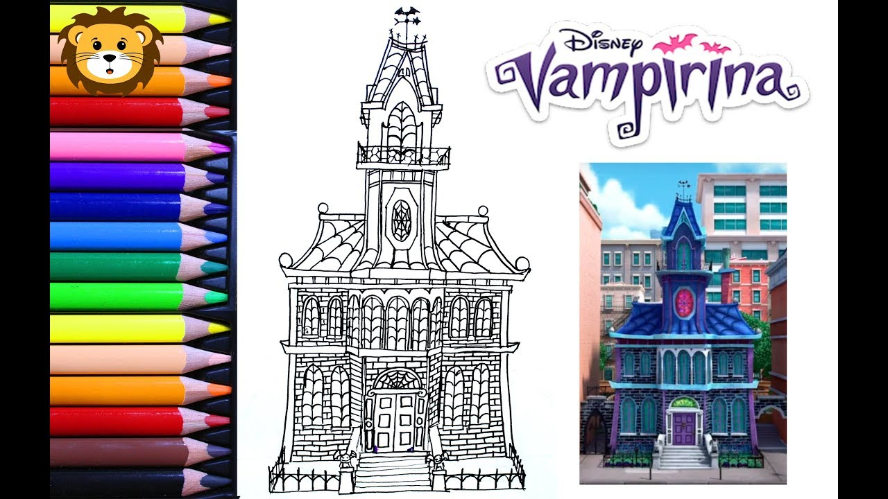 Como Dibujar La Casa De Vampirina Dibujos Para Niños Draw And Coloring Book For Kids