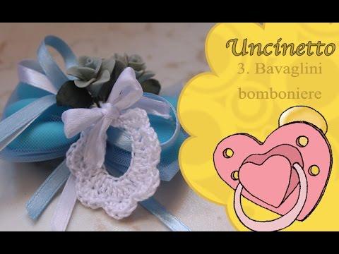 Uncinetto Bimbi 3 Bavaglino Bomboniera How To Do Bib Favor Youtube