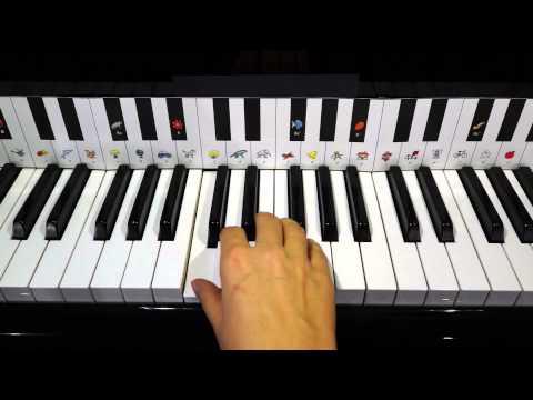 Klavier lernen - ABC, die Katze lief im Schnee