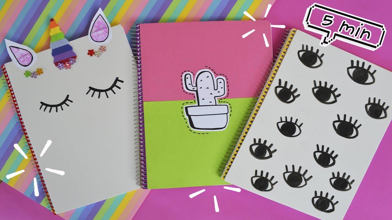 Ideas Para Decorar Cuadernos Libretas Facil